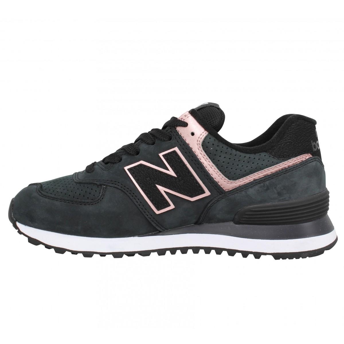 New balance 574 nubuck femme noir femme | Fanny chaussures