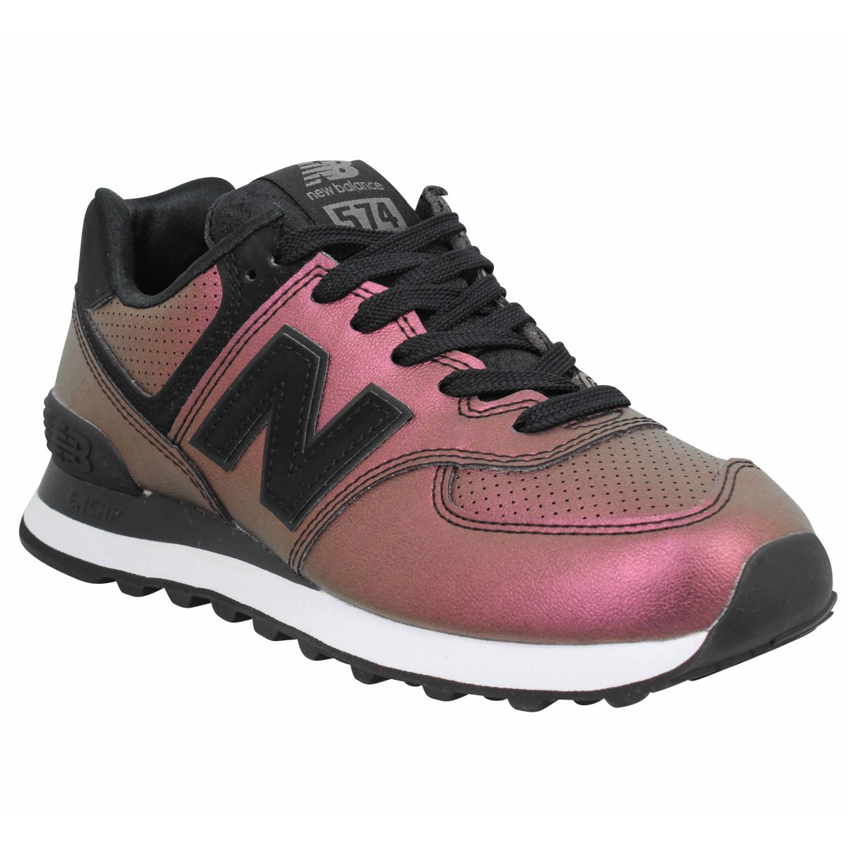 Baskets NEW BALANCE 574 simili Femme Rose
