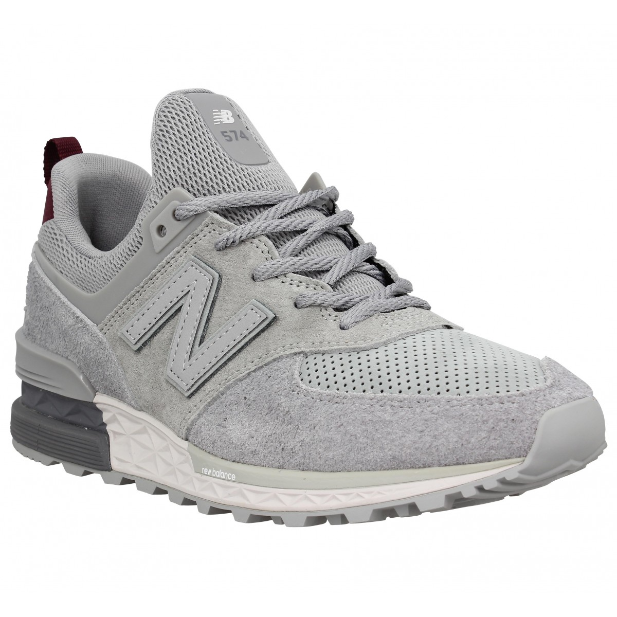 new products 0a91c 50ea3 Baskets NEW BALANCE 574 Sport velours Homme Gris