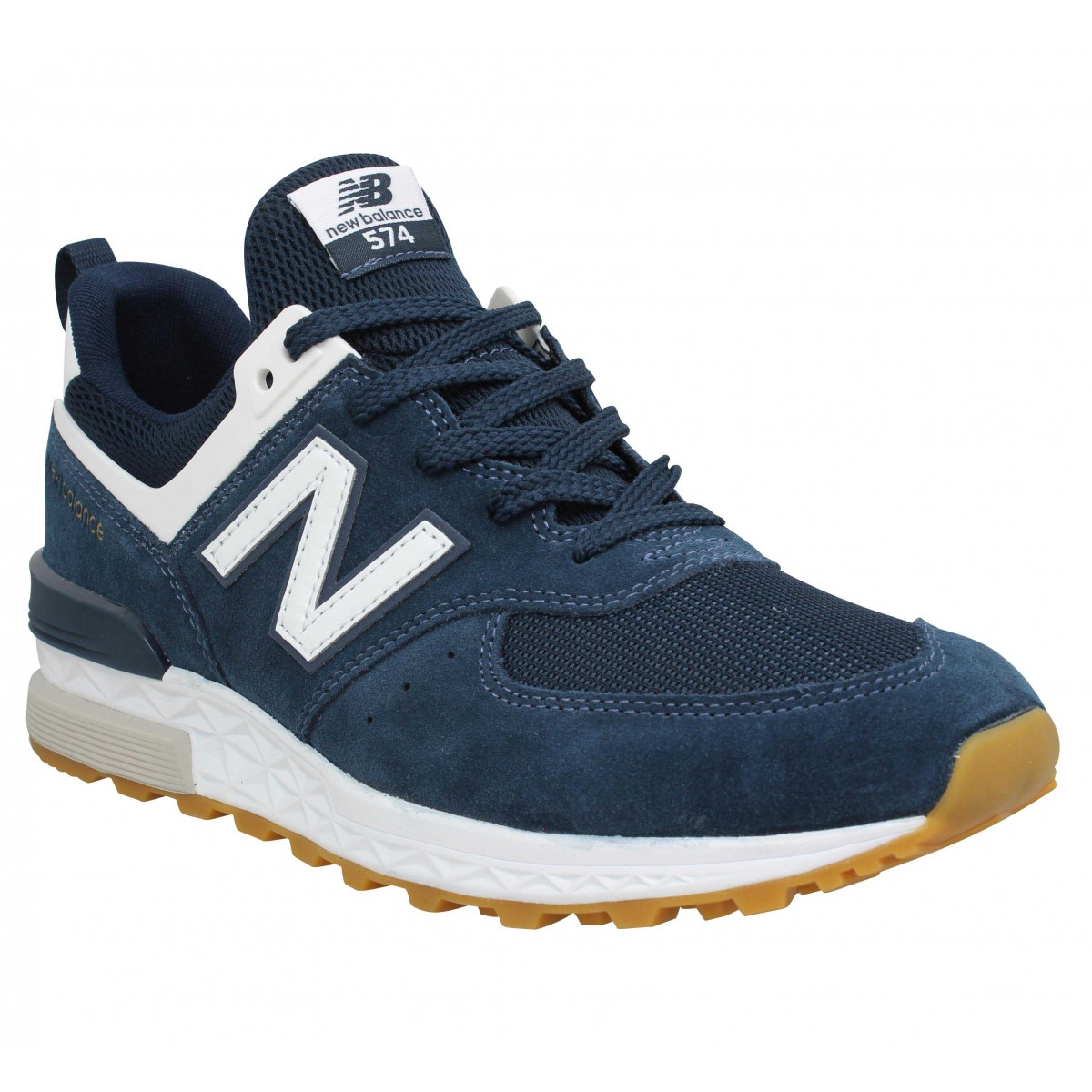 Baskets NEW BALANCE 574 Sport velours Homme Marine