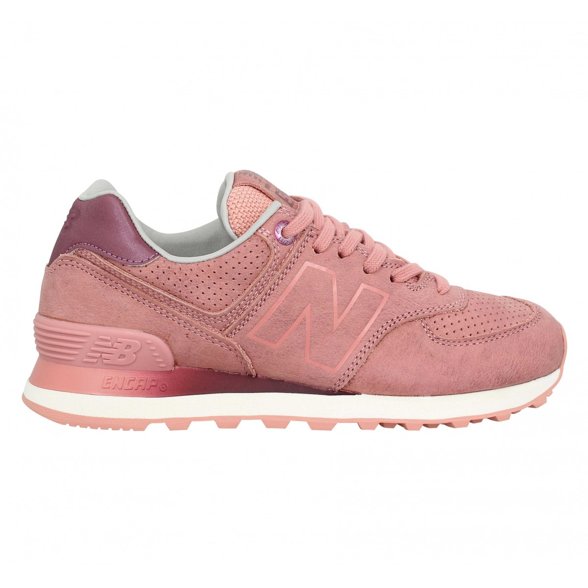 new balance 574 velours femme peach femme fanny chaussures. Black Bedroom Furniture Sets. Home Design Ideas