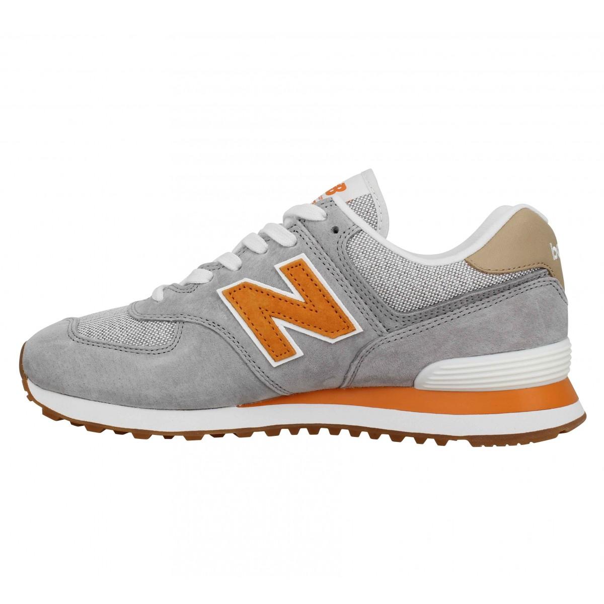 new balance homme gris orange