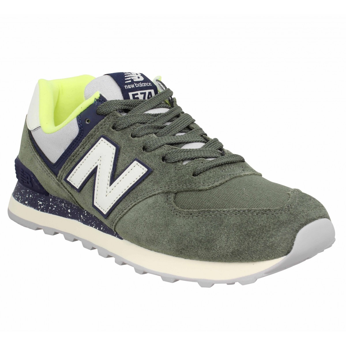 Baskets NEW BALANCE 574 velours Homme Vert