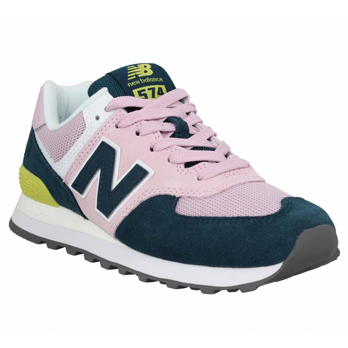 Los Angeles 2d595 a1f7b NEW BALANCE 574 velours toile Femme Rose Bleu