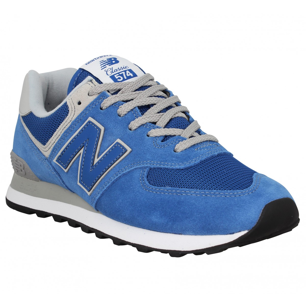 Baskets NEW BALANCE 574 velours toile Homme Blue