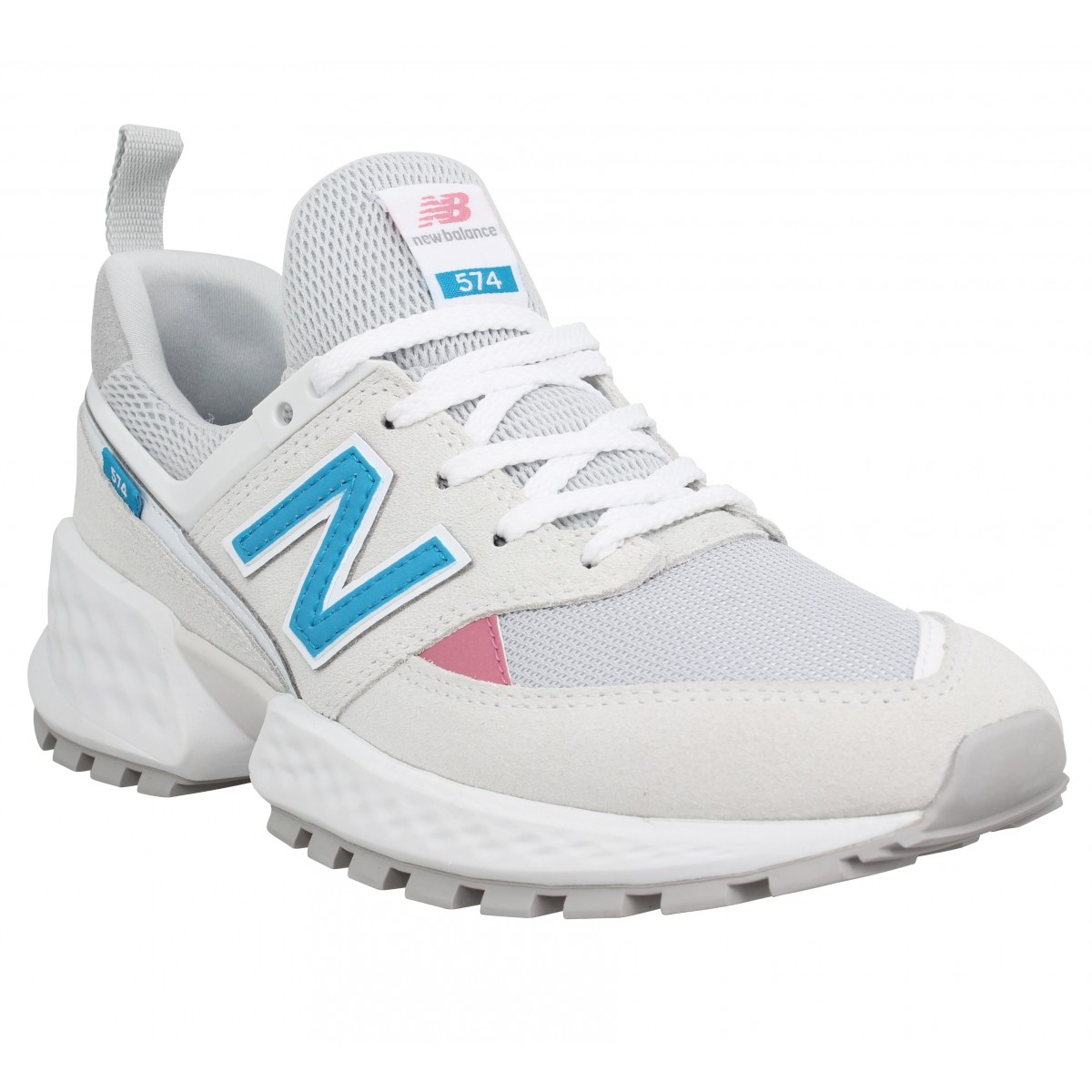 Baskets NEW BALANCE 574S toile Femme Blanc