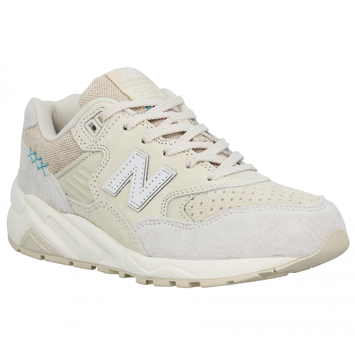 Baskets NEW BALANCE 580 velours toile Femme Salt