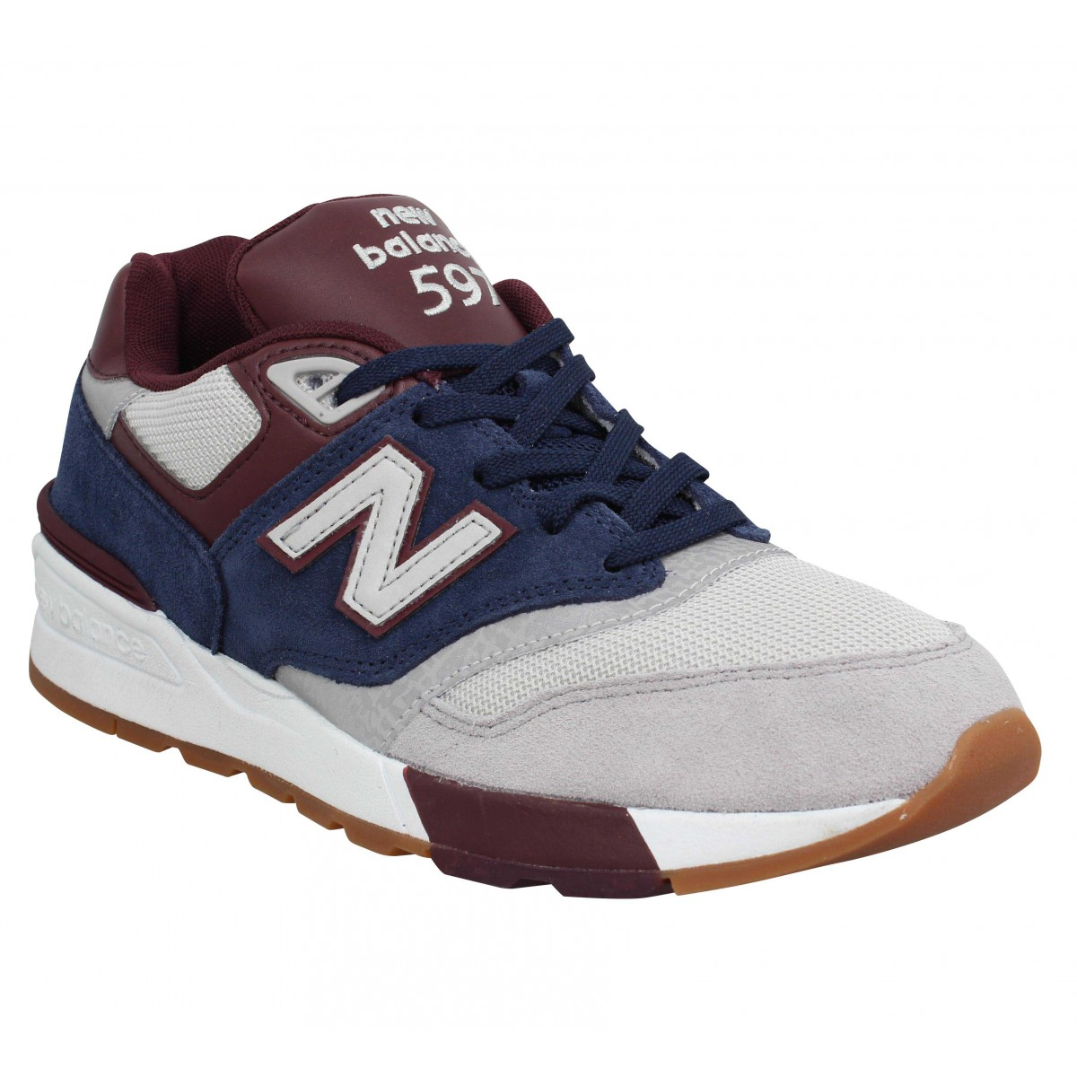 Baskets NEW BALANCE 597 velours Homme Marine