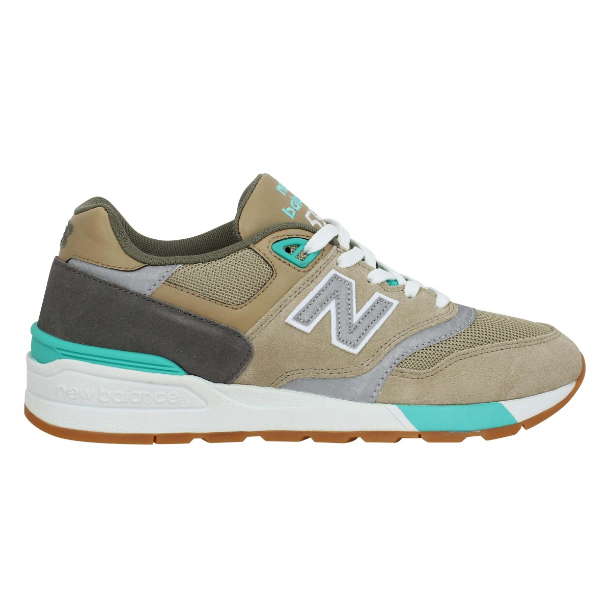 New balance 597 velours homme olive homme | Fanny chaussures