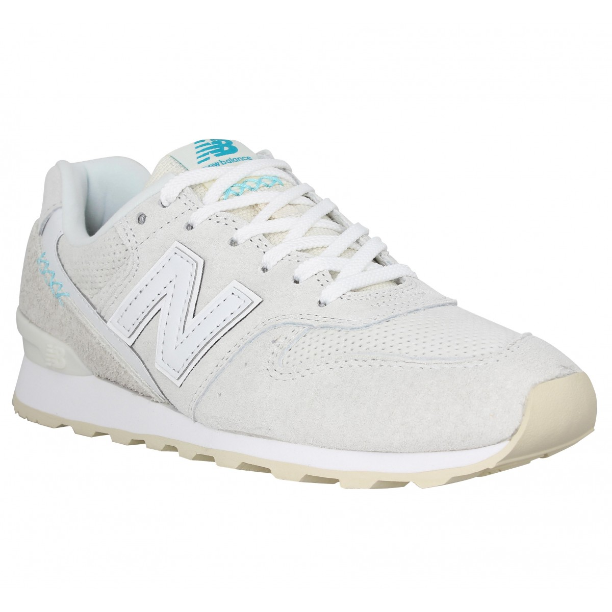 Baskets NEW BALANCE 996 velours Femme Blanc