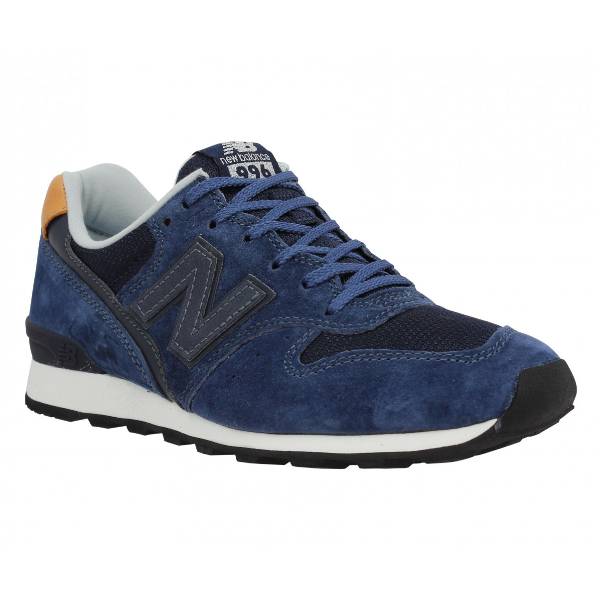 Baskets NEW BALANCE 996 velours + toile Femme Navy