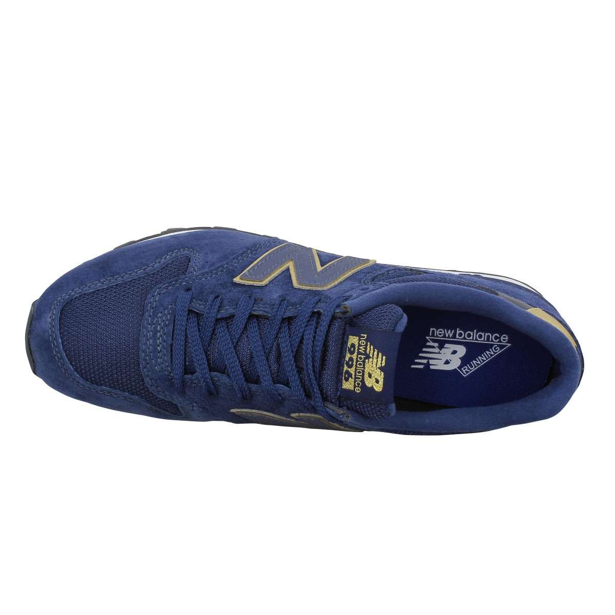 new balance grise et or