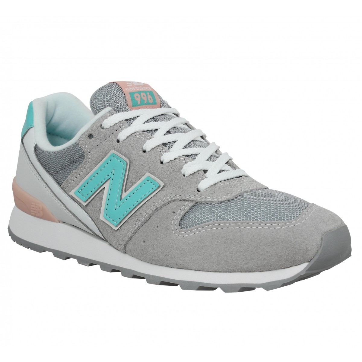 Baskets NEW BALANCE 996 velours + toile Silver