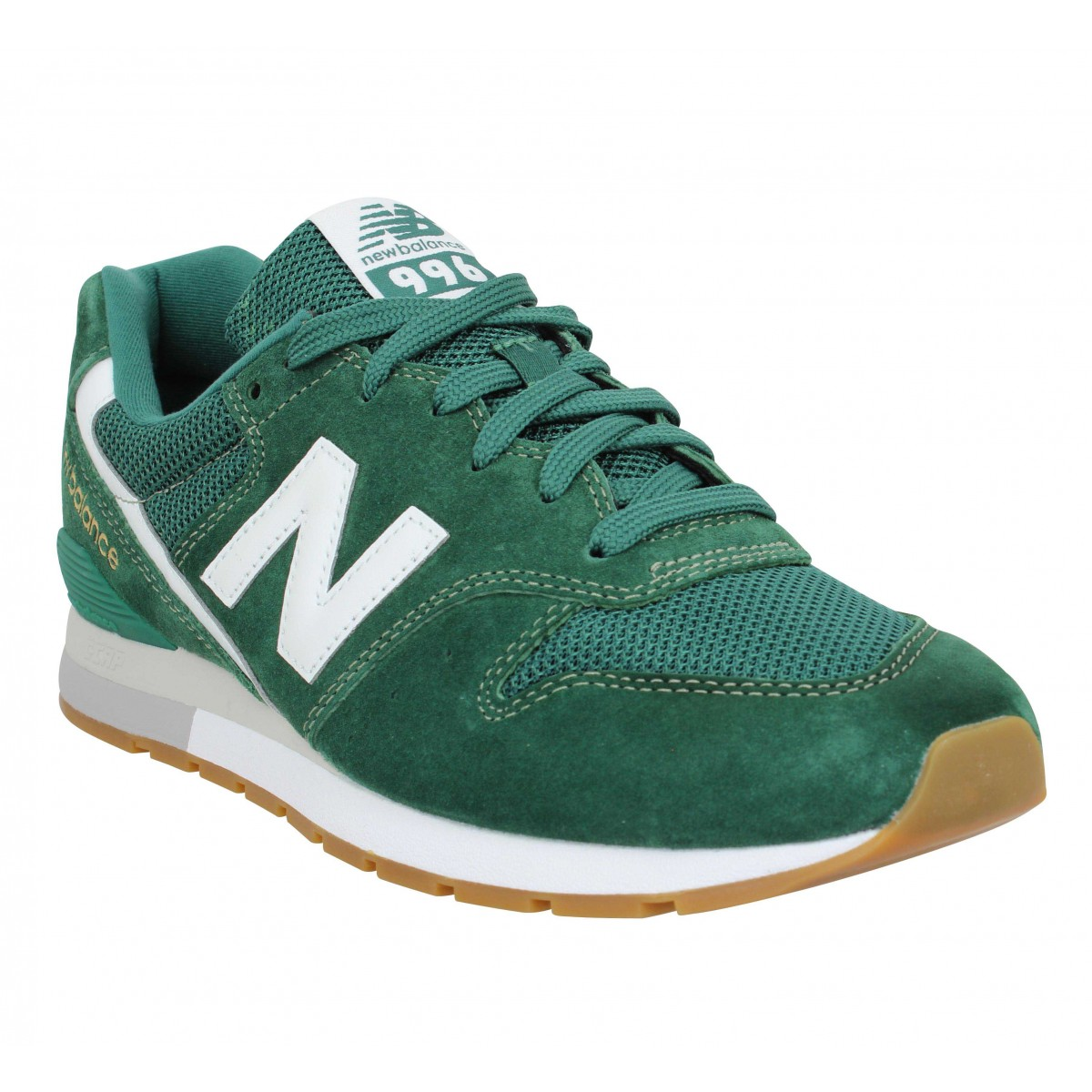 Baskets NEW BALANCE 996 velours toile Homme Forest
