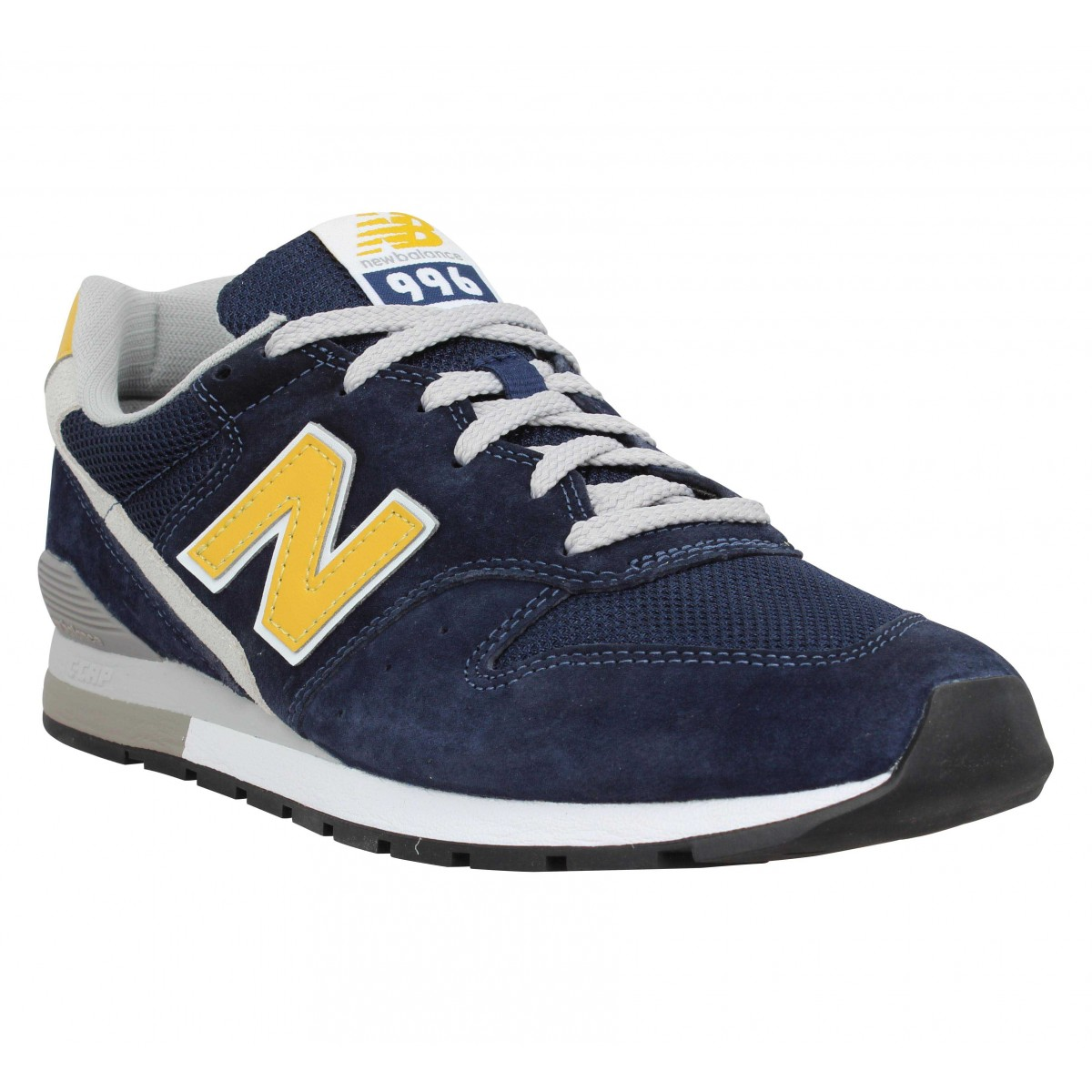 Baskets NEW BALANCE 996 velours toile Homme Navy Gold