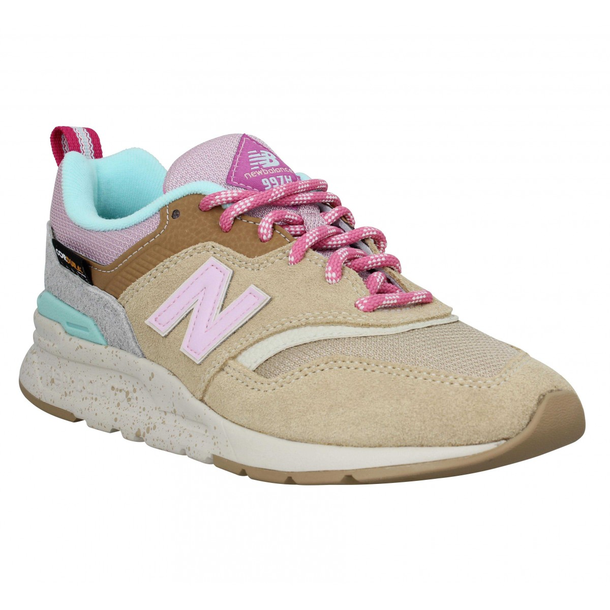 Baskets NEW BALANCE 997 velours toile Femme Tan