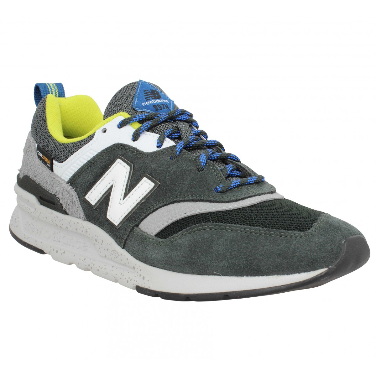 Baskets NEW BALANCE 997 velours toile Homme Kaki