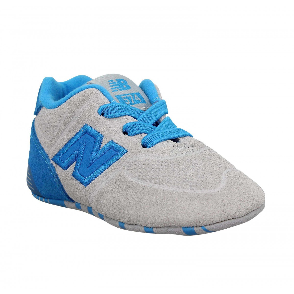 Baskets NEW BALANCE KV574 velours Enfant Bleu