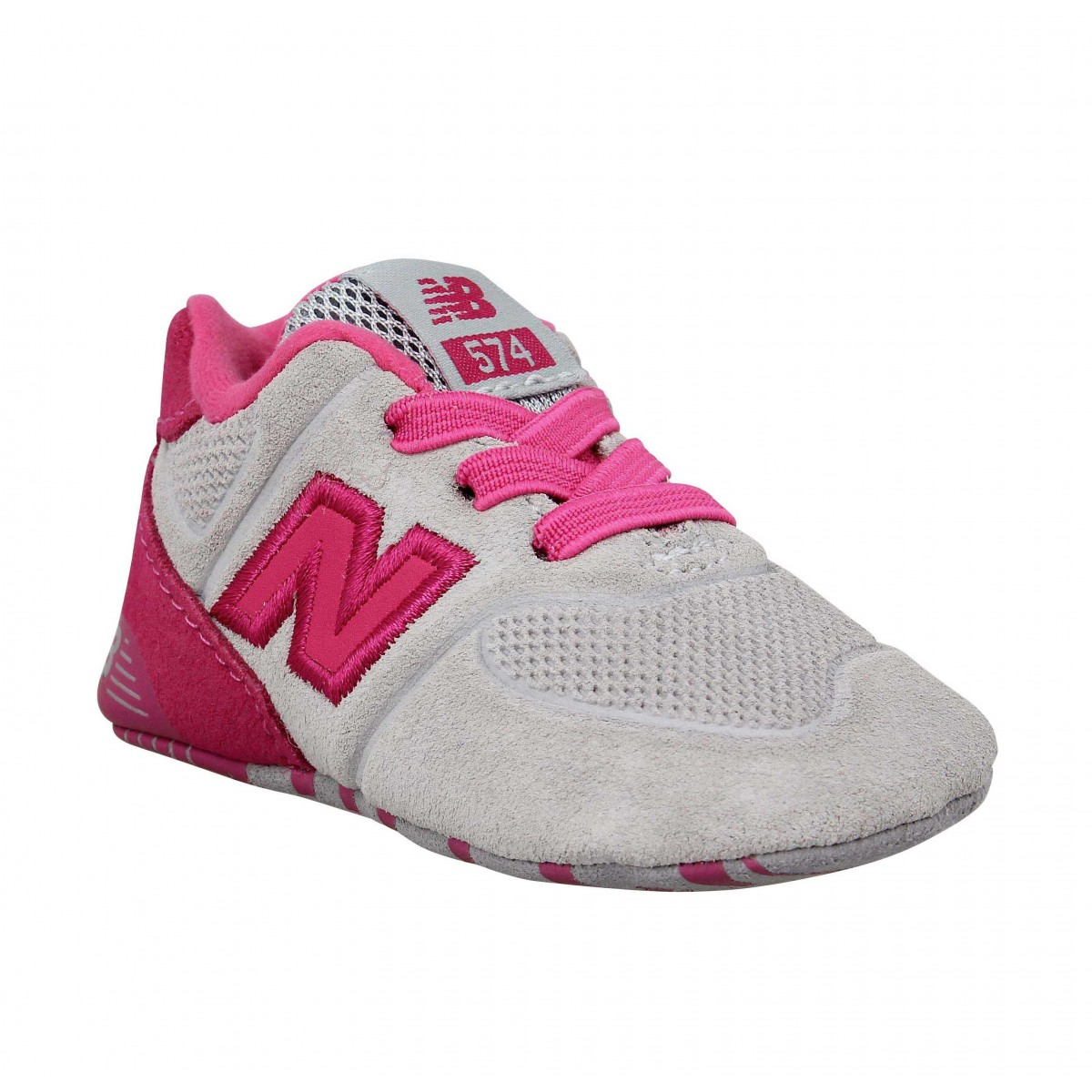 Baskets NEW BALANCE KV574 velours Enfant Rose