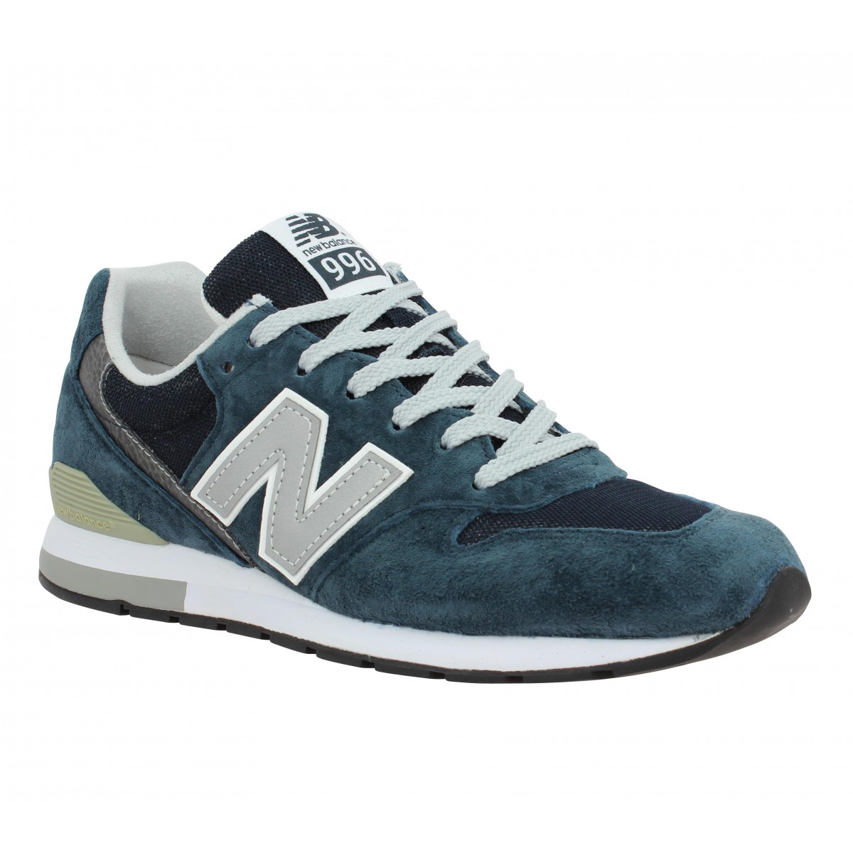 Baskets NEW BALANCE L996 velours + toile Homme Marine