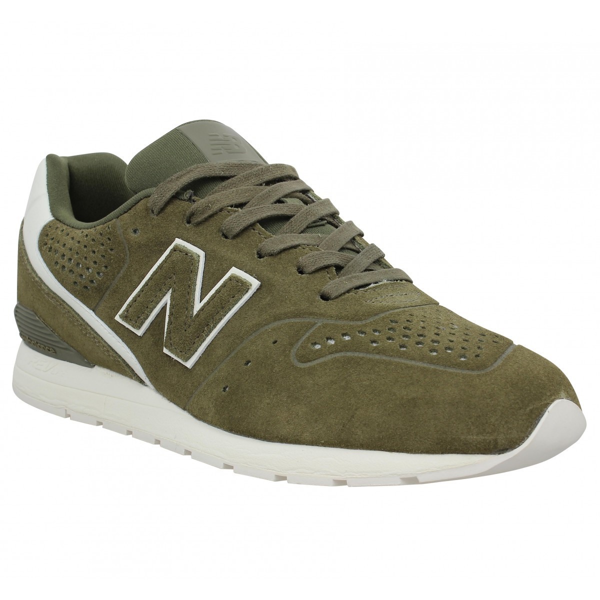 Baskets NEW BALANCE MRL 996 velours Homme Kaki