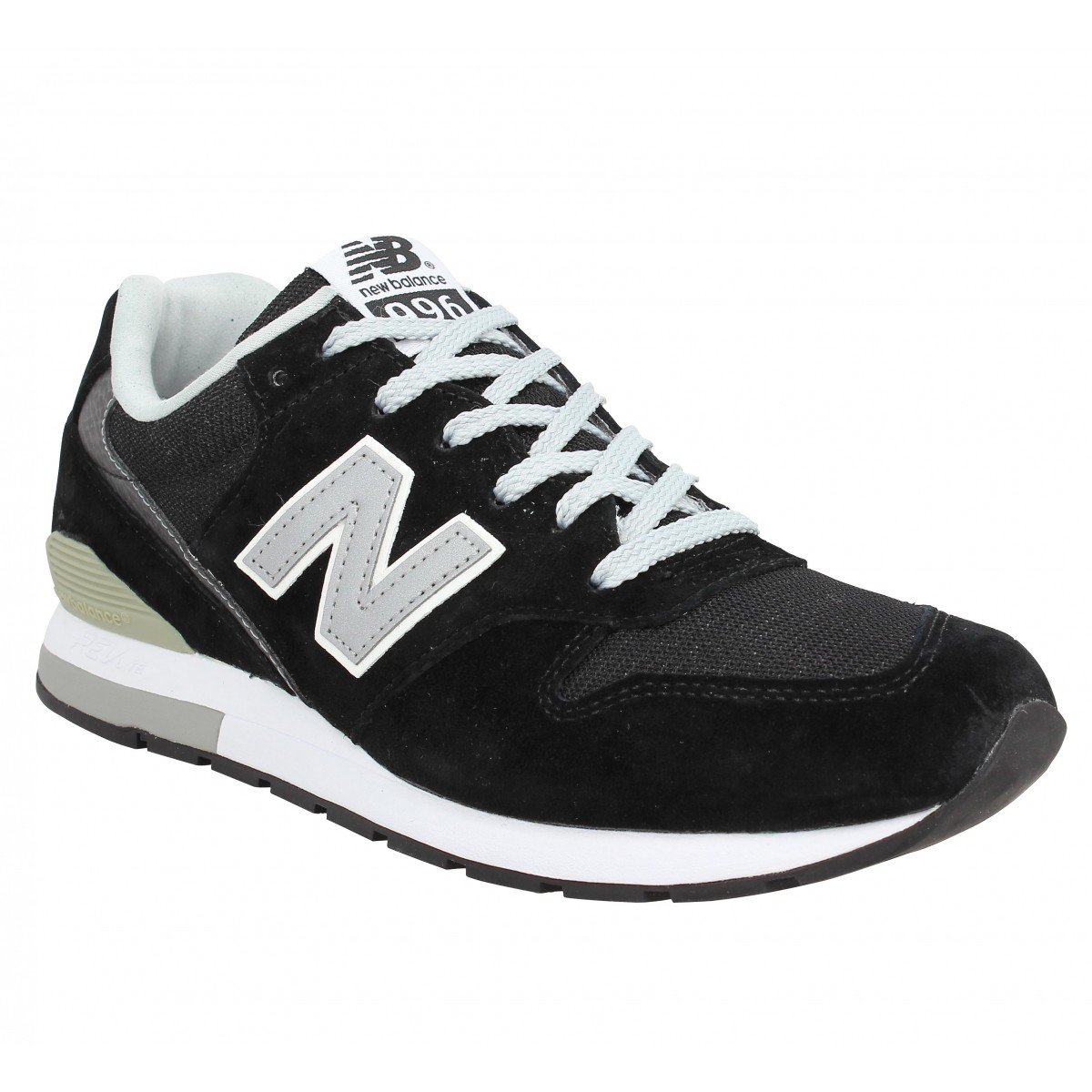 Baskets NEW BALANCE MRL 996 velours + toile Noir