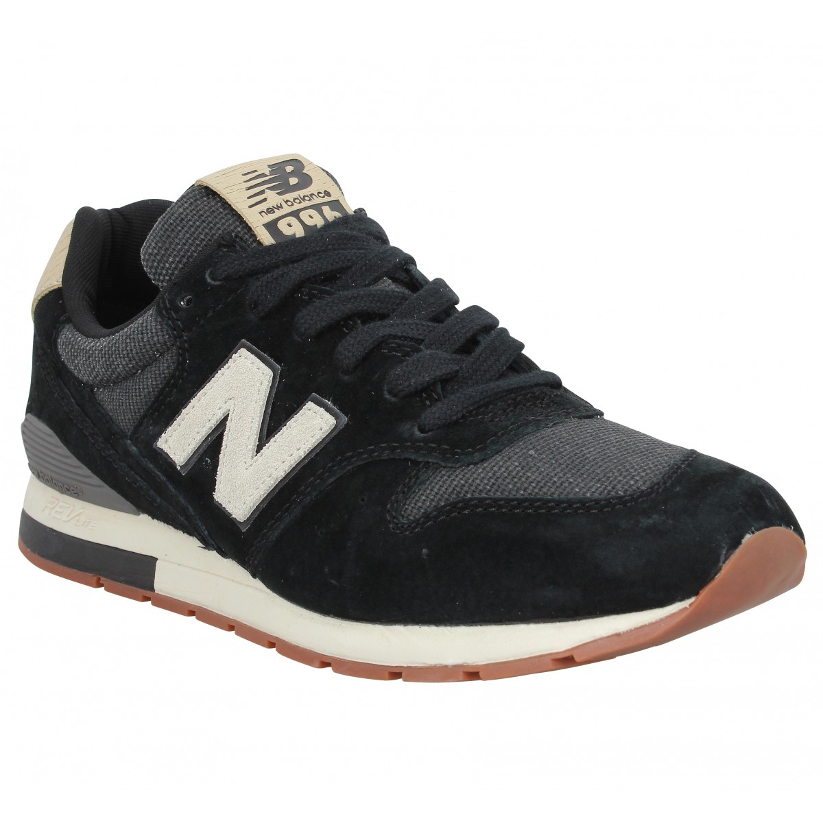 Baskets NEW BALANCE MRL 996 velours toile Homme Black