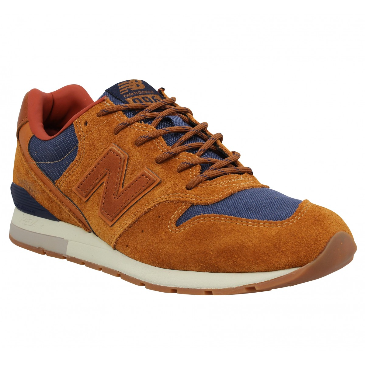 Baskets NEW BALANCE MRL 996 velours toile Homme Marron