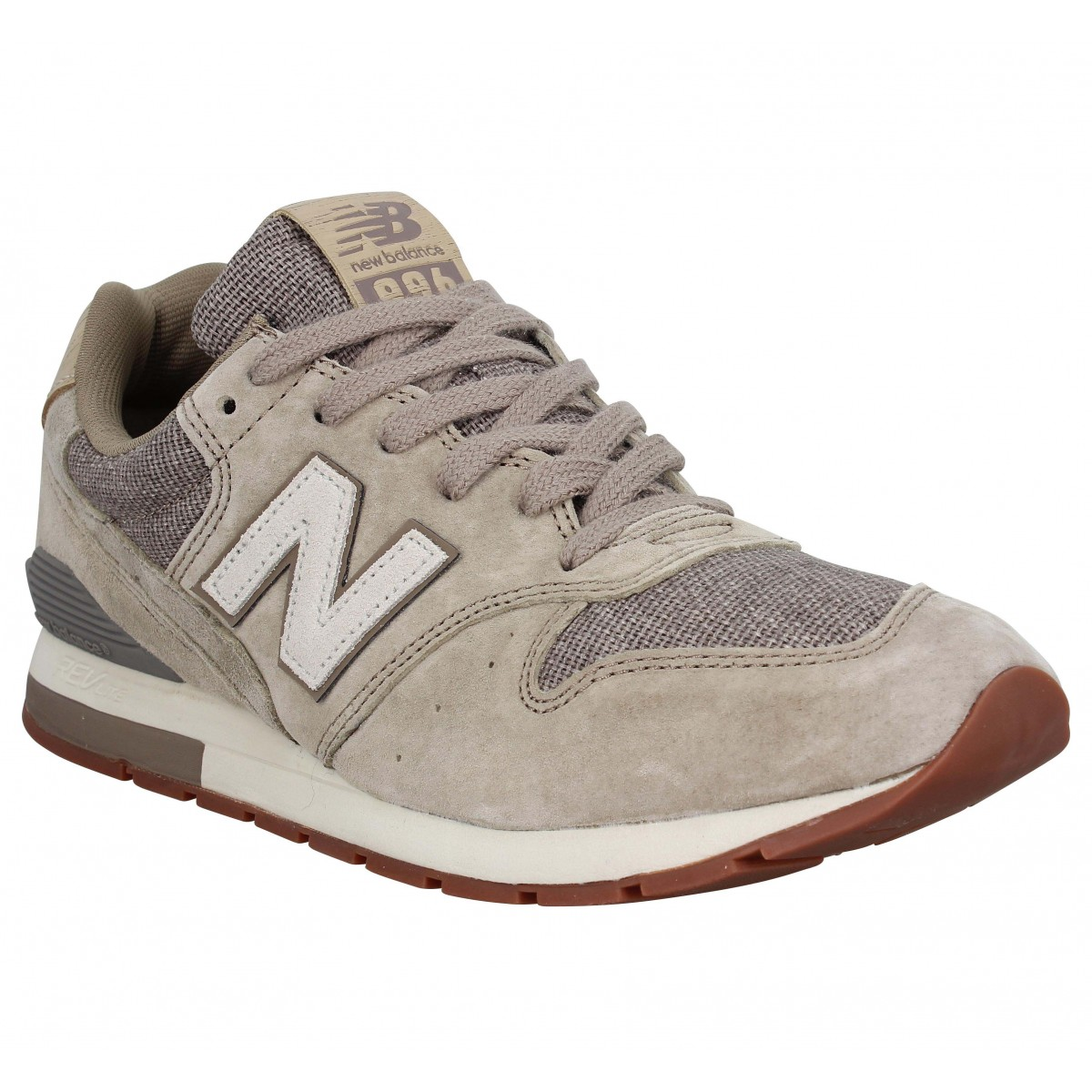 Baskets NEW BALANCE MRL 996 velours toile Homme Taupe