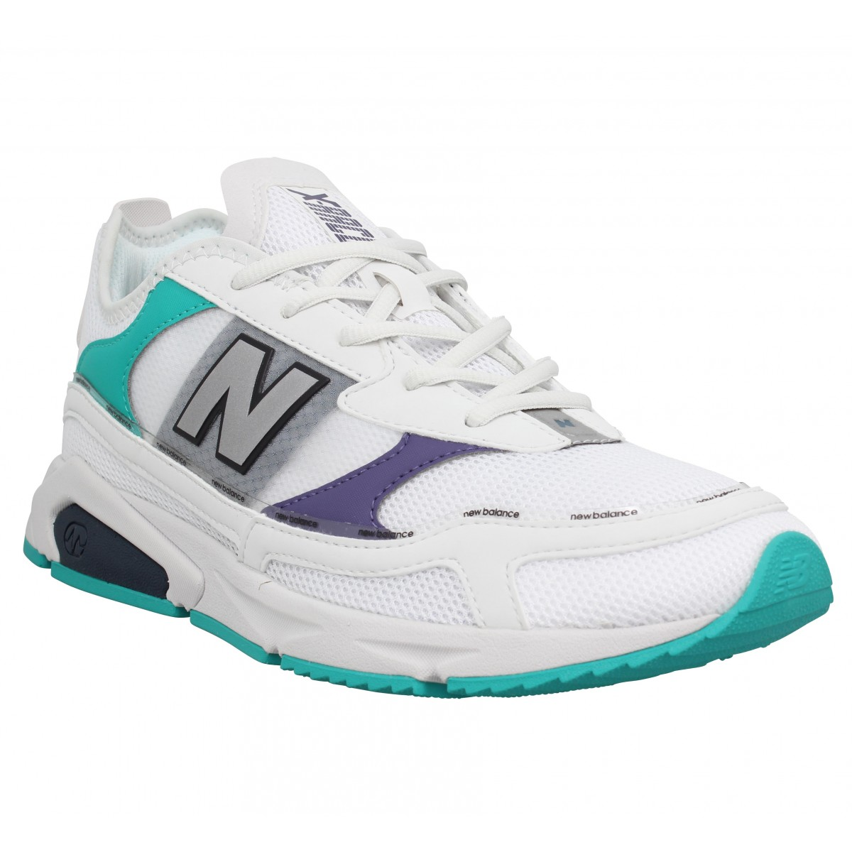 Baskets NEW BALANCE MSX RC toile Homme Blanc Violet