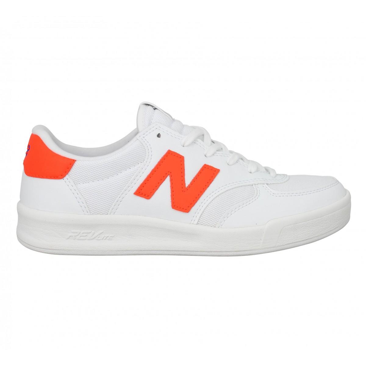 New Balance Femme Blanc Orange