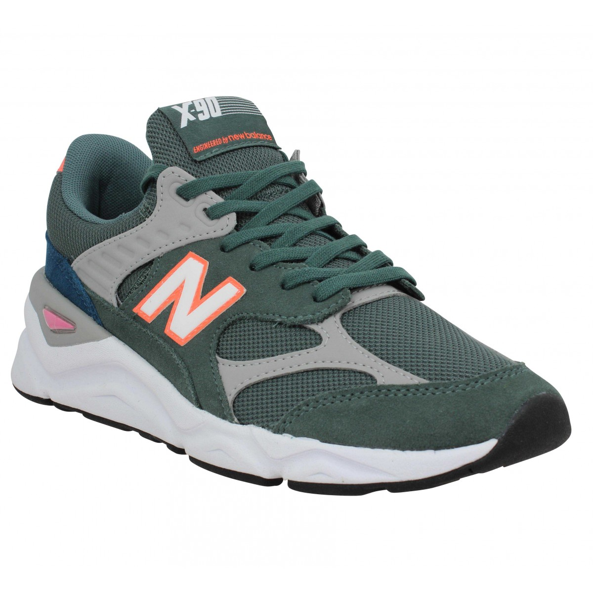 baskets new balance hommes kaki