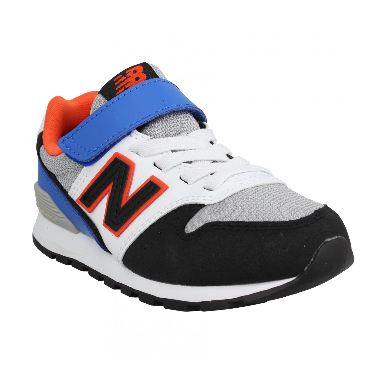 Baskets NEW BALANCE YV996 velours toile Enfant Bleu Orange