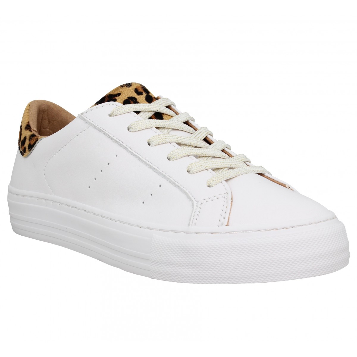 Baskets NO NAME Arcade Sneaker nappa Femme Blanc Leopard