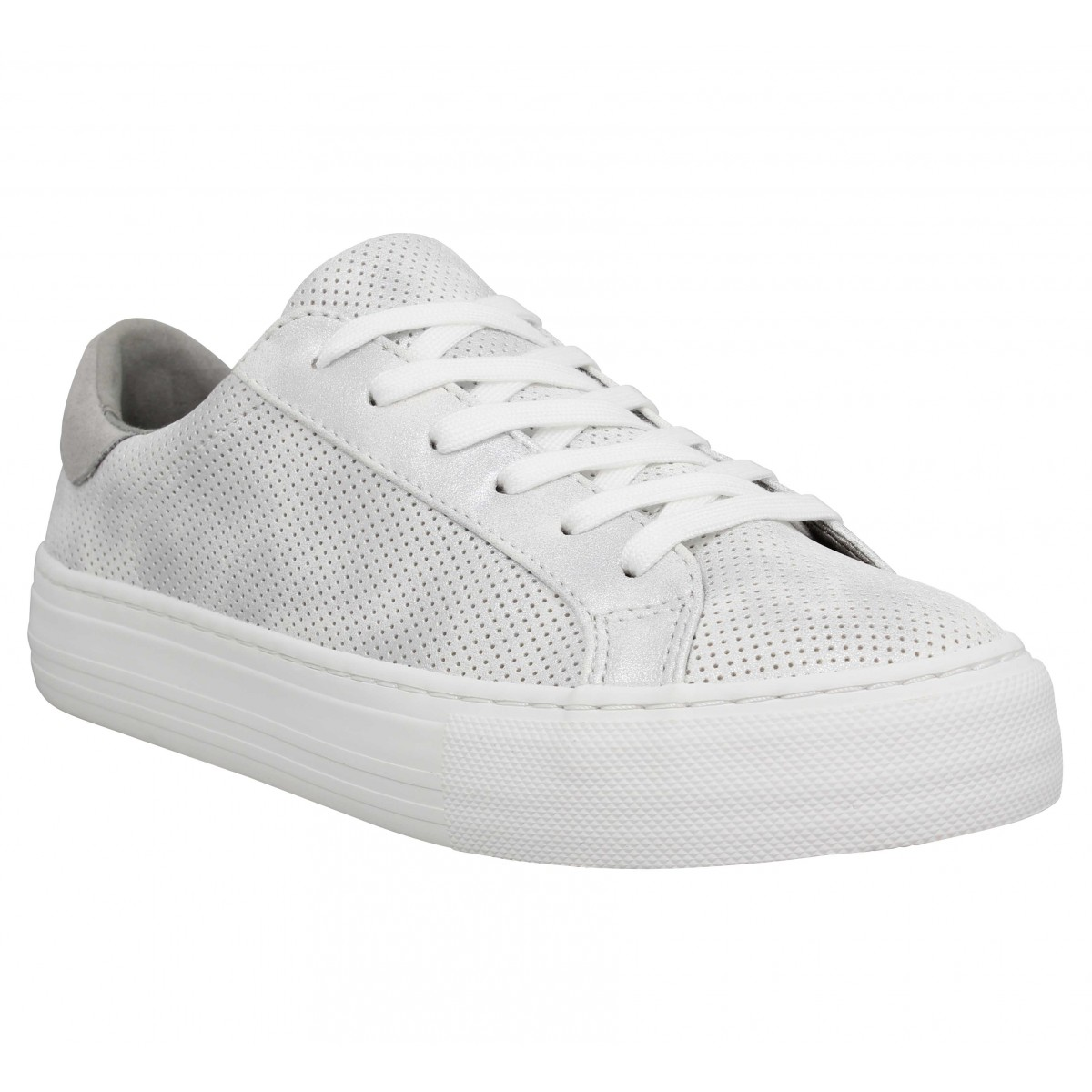 Baskets NO NAME Arcade Sneaker punch glow Femme Argent Blanc