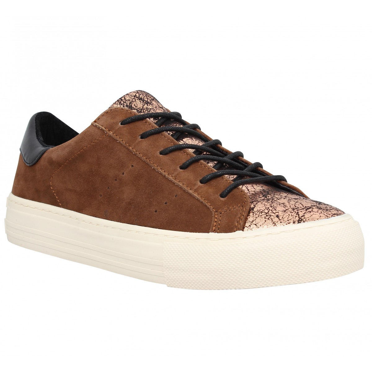 Baskets NO NAME Arcade Sneaker suede Femme Marron Cuivre