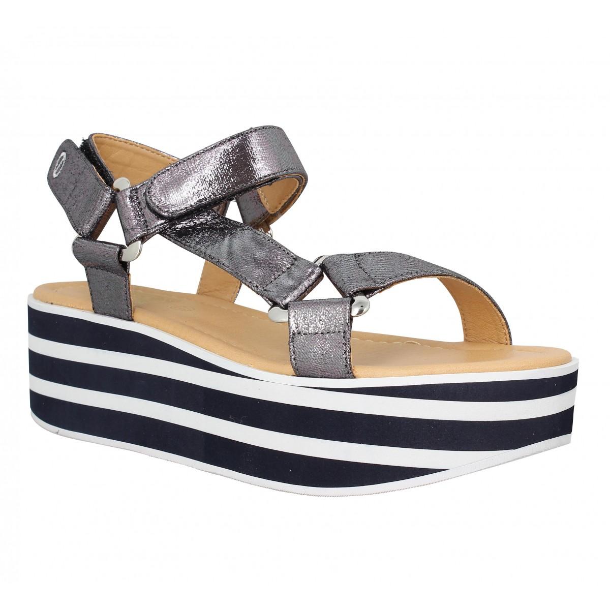 Nu-pieds NO NAME Bahama Sandal Femme Anthracite