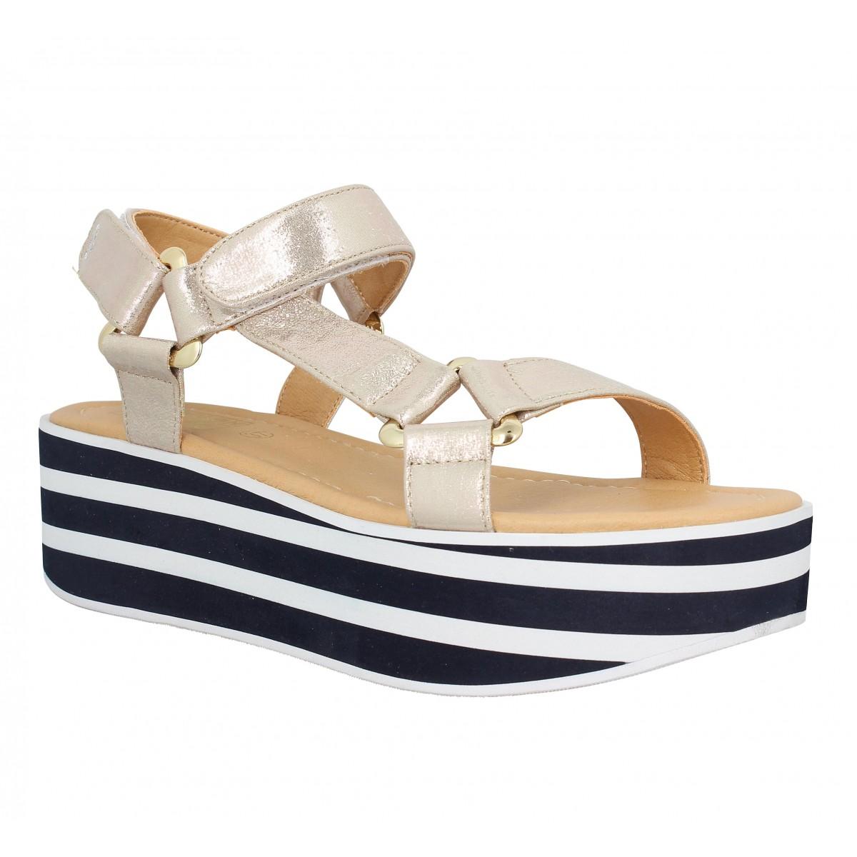 Nu-pieds NO NAME Bahama Sandal Femme Gold