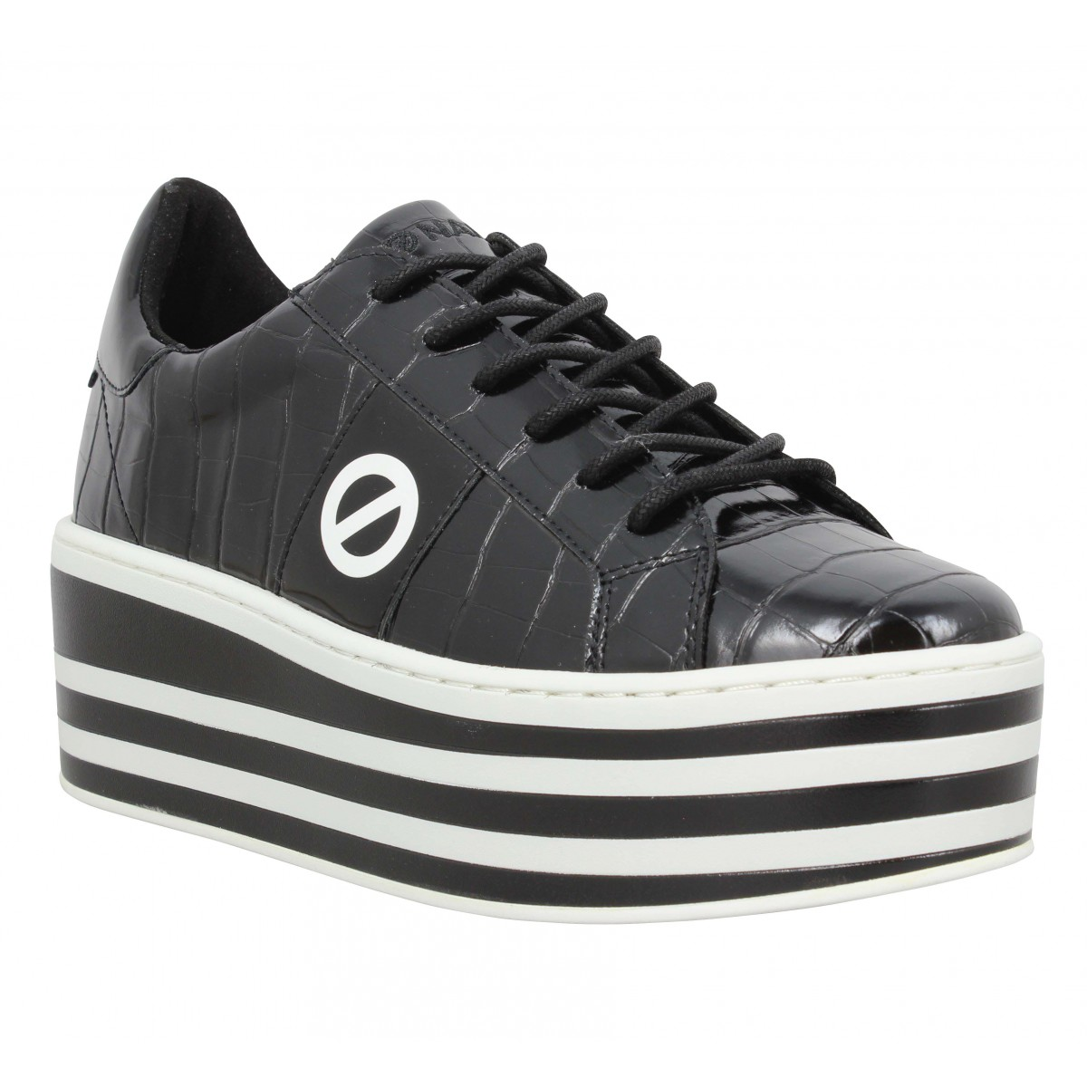 No Name Femme Boost Sneaker Shine Croco...