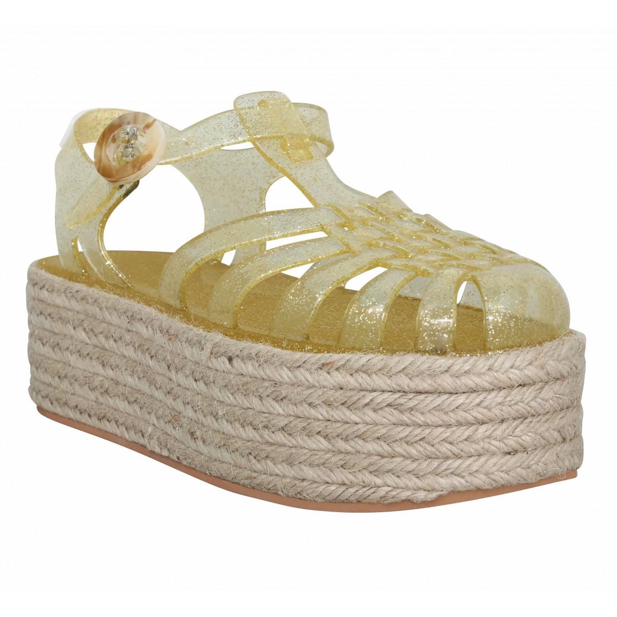 Sandales talons NO NAME X MEDUSE Calypso Meduse jelly Femme Gold