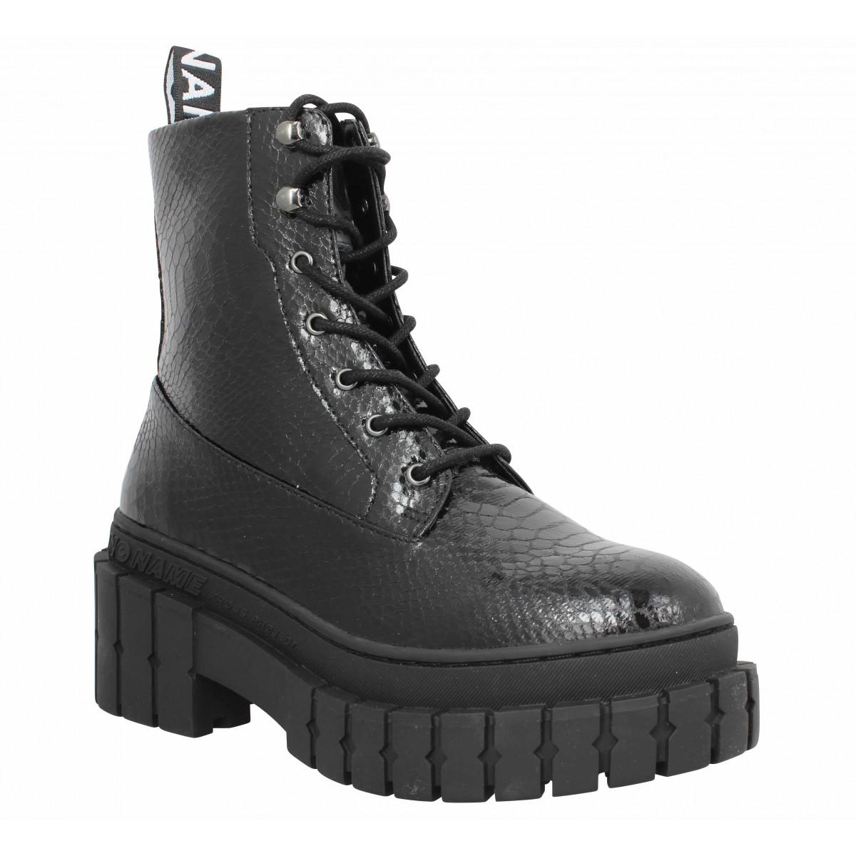 Bottines NO NAME Kross Boots python Femme Noir
