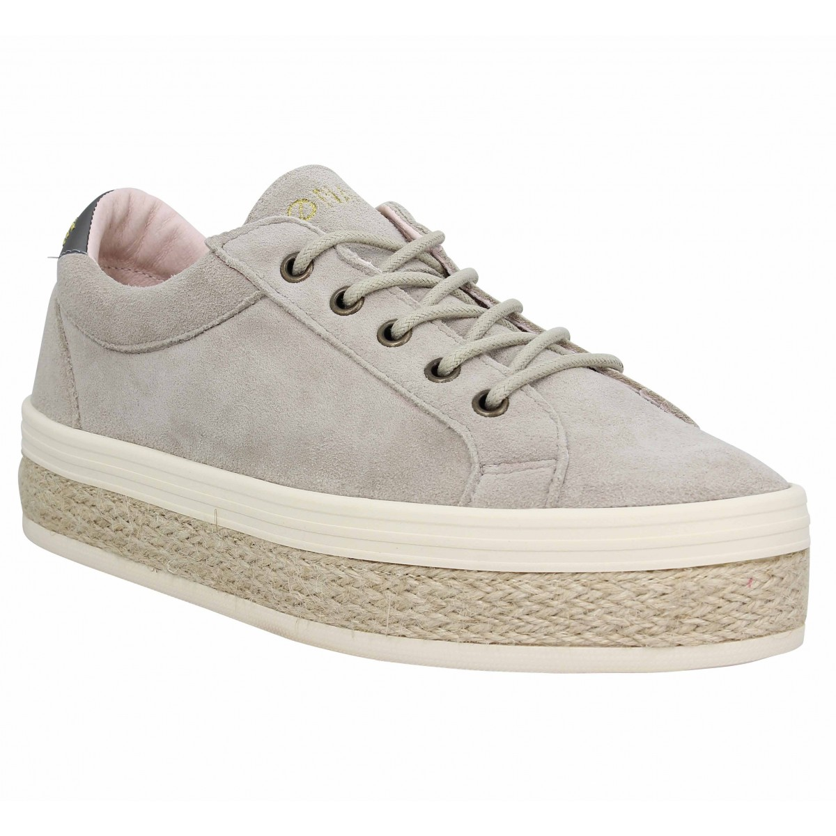 Baskets NO NAME Malibu Bridge suede Femme Naturel