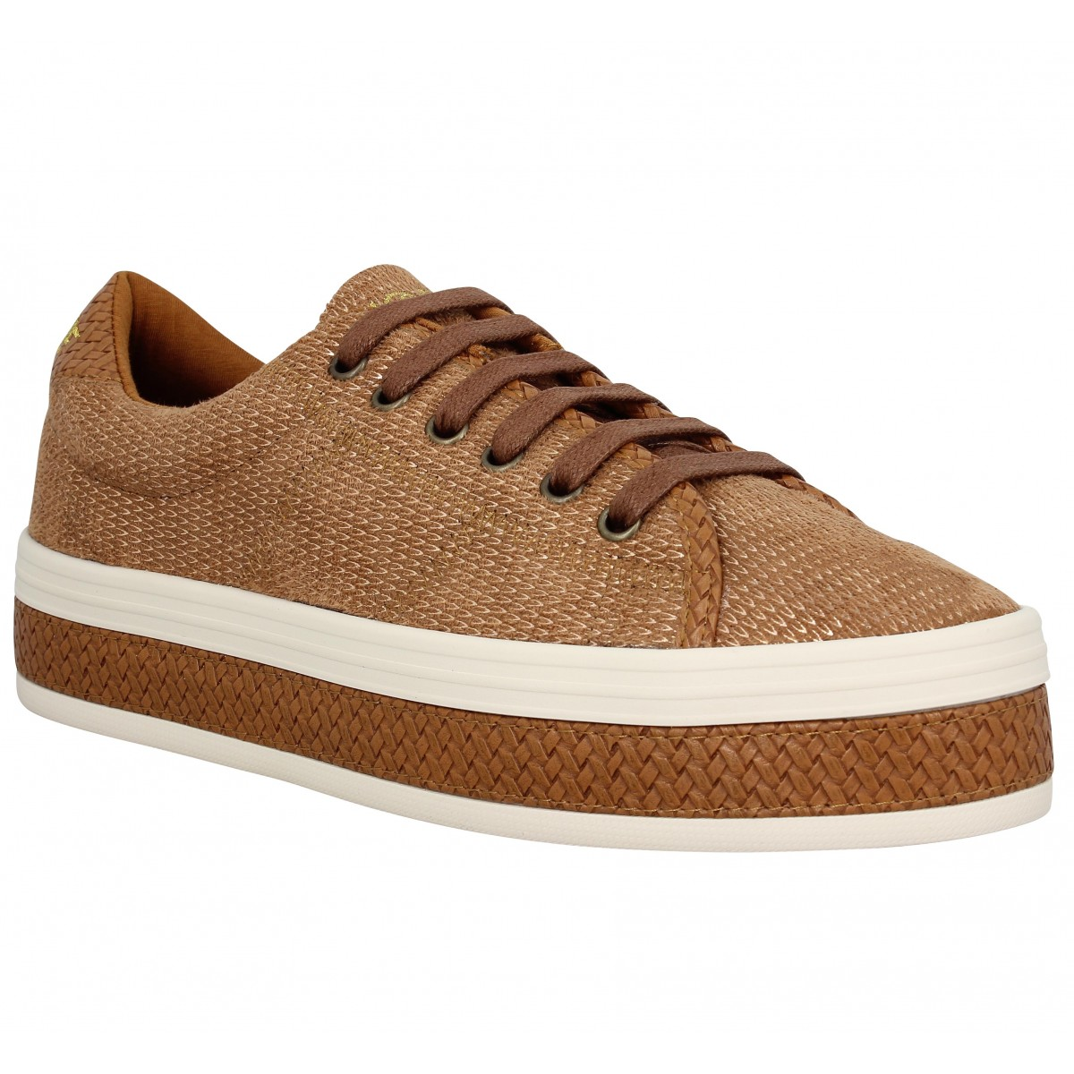 Baskets NO NAME Malibu Sneaker Femme Tan