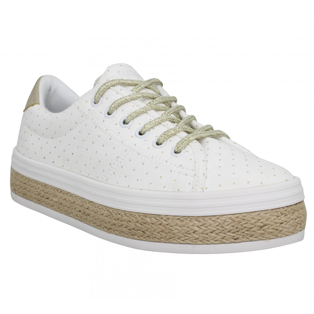 Baskets NO NAME Malibu Sneaker toile Femme Blanc