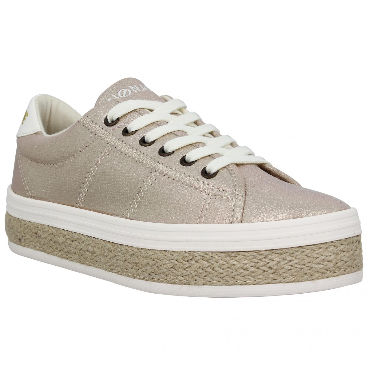 Baskets NO NAME Malibu Sneaker toile Femme Or