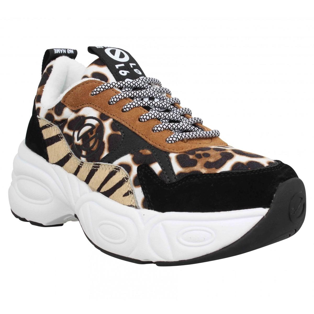 Baskets NO NAME Nitro Jogger cow suede Femme Leopard