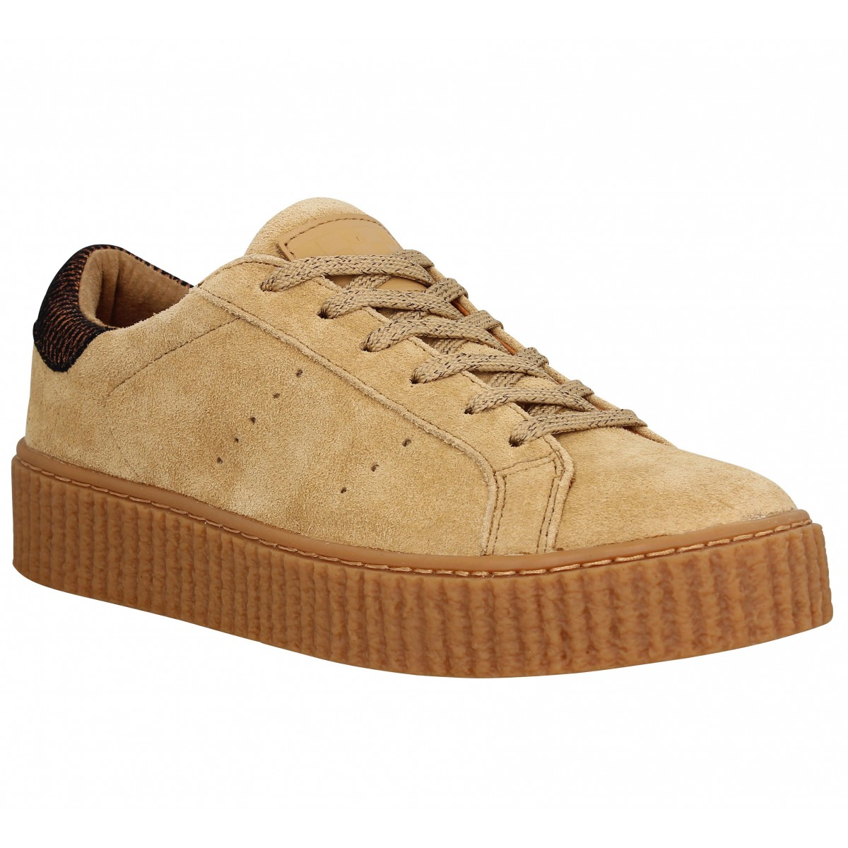 Baskets NO NAME Picadilly Sneaker velours Femme Mastic