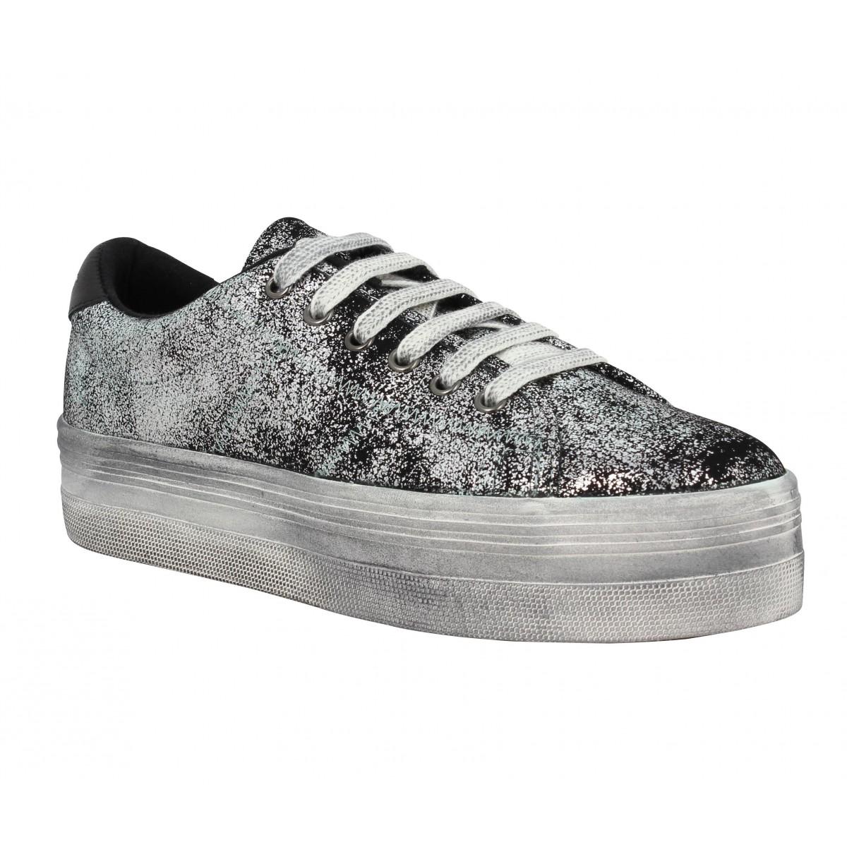 Compensées NO NAME Plato Sneaker Mercure Femme Silver