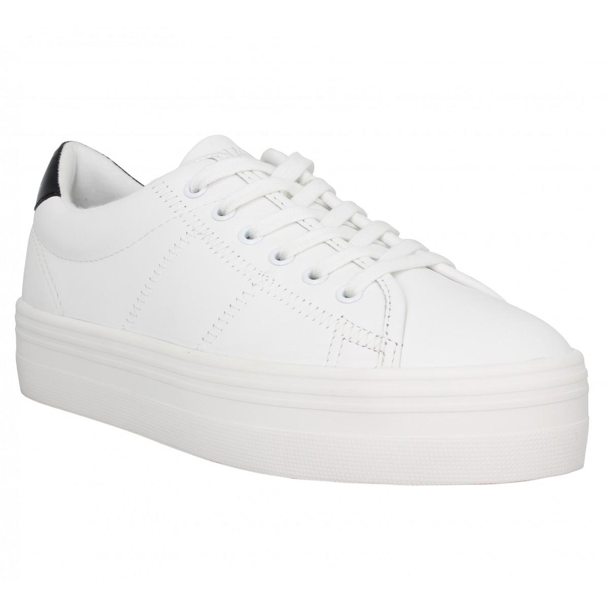 Baskets NO NAME Plato Sneaker nappa Femme Blanc