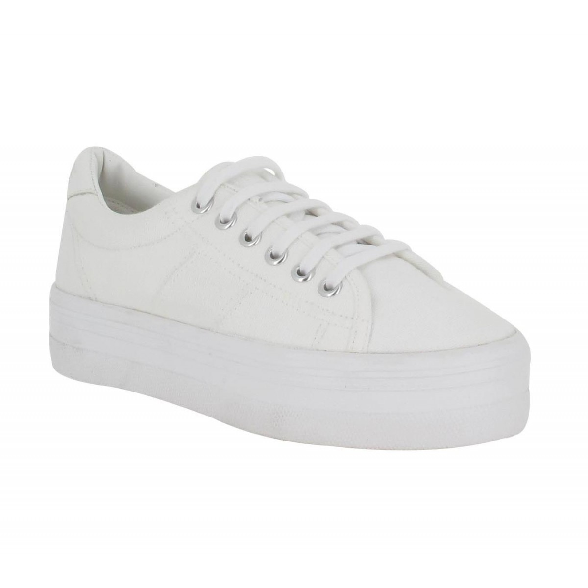 Baskets NO NAME Plato Sneaker toile Femme Blanc
